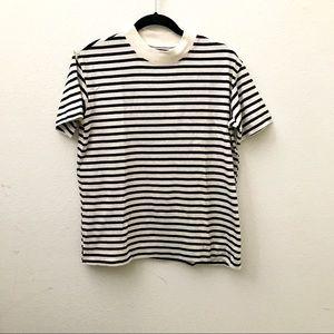 NEW Madewell Rivet & Thread navy striped shirt